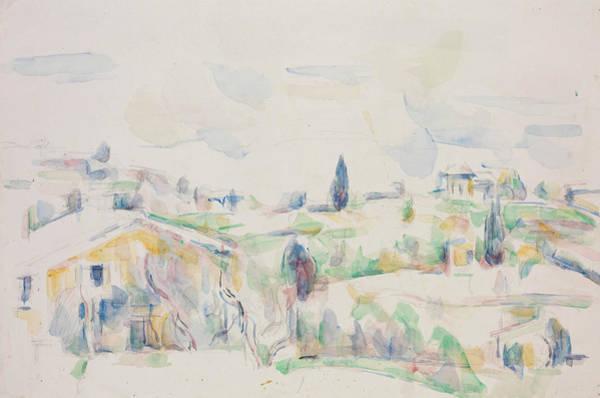 Cezanne Wall Art - Painting - Landscape In Provence  by Paul Cezanne