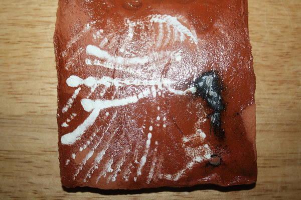Ceramic Art - Last One - Tile by Gloria Ssali