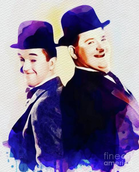Laurel Wall Art - Painting - Laurel And Hardy by John Springfield