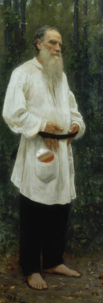 Painting - Leo Tolstoy Barefoot by Ilya Repin