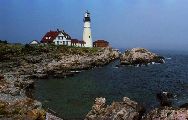 Photograph - Lighthouse - Portland Head Maine 5 by Frank Romeo