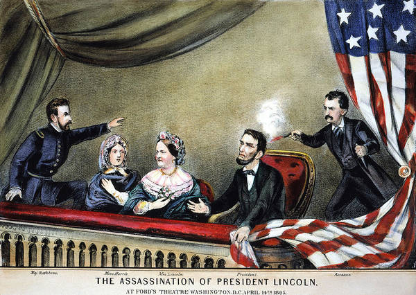 Nathaniel Photograph - Lincoln Assassination by Granger
