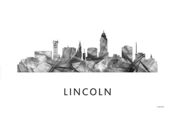 Nebraska Digital Art - Lincoln Nebraska Skyline by Marlene Watson