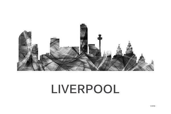 Liverpool Skyline Digital Art - Liverpool England Skyline by Marlene Watson