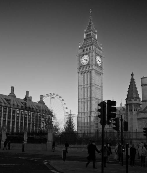 Southbank Photograph - London  Skyline Big Ben by David French