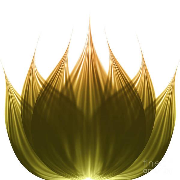 Wall Art - Digital Art - Lotus Flower by Atiketta Sangasaeng