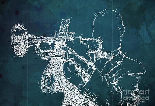 Wall Art - Painting - Louis Armstrong On Stage by Drawspots Illustrations
