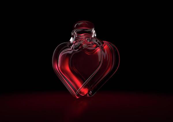 Appeal Digital Art - Love Potion Heart Bottle by Allan Swart