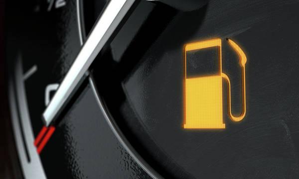 Dashboard Digital Art - Low Petrol Dashboard Light by Allan Swart