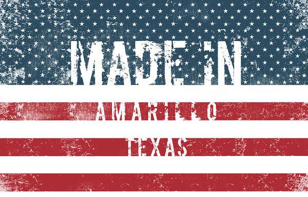 Amarillo Digital Art - Made In Amarillo, Texas by Tinto Designs