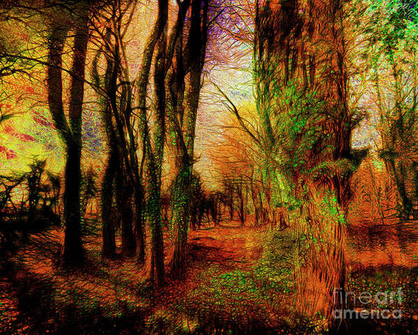 Digital Art - Magic Of The Woods by Edmund Nagele
