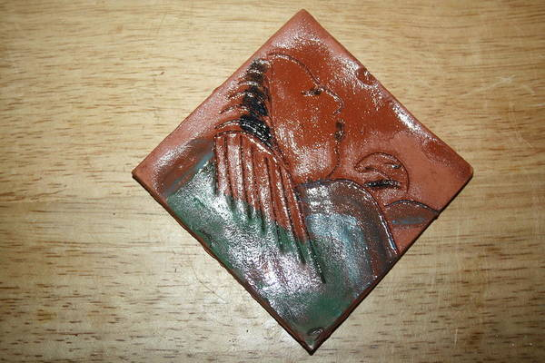 Ceramic Art - Mama - Tile by Gloria Ssali