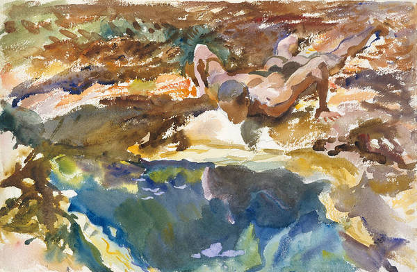 Drawing - Man And Pool, Florida by John Singer Sargent