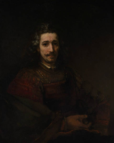 Painting - Man With A Magnifying Glass by Rembrandt