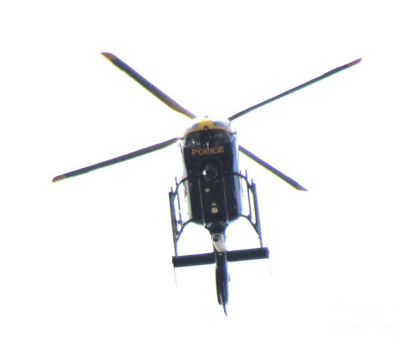 Greater Manchester Wall Art - Photograph - Manchester Police Helicopter - Uk by Doc Braham