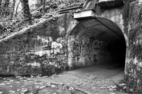 Photograph - End Of The Tunnel - Bw by Marilyn Wilson