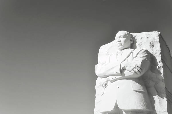 Photograph - Martin Luther King Statue Monument In Washington Dc by Brandon Bourdages