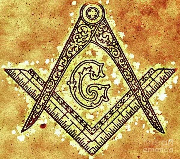 Masonic Wall Art - Painting - Masonic Symbolism by Pierre Blanchard