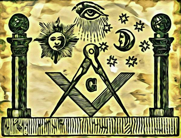 Society Digital Art - Masonic Symbolism Reworked by Pierre Blanchard