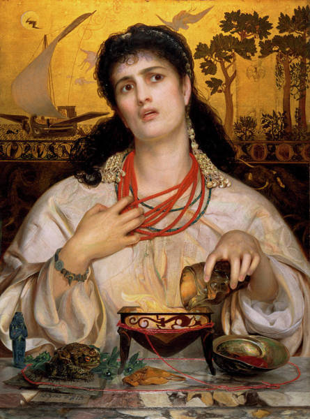 Wall Art - Painting - Medea by Frederick Sandys
