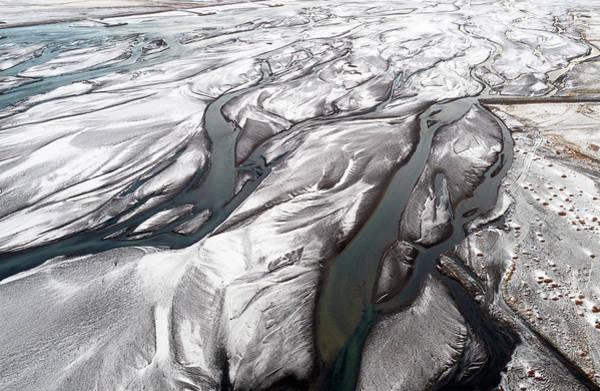 Photograph - Melting Ice Patterns In Iceland by Pradeep Raja PRINTS