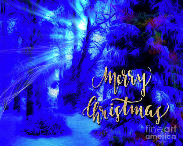 Digital Art - Merry Christmas by Edmund Nagele