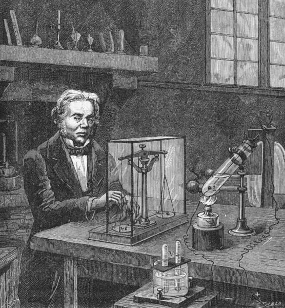 Electrolysis Wall Art - Photograph - Michael Faraday (1791-1867) by Granger