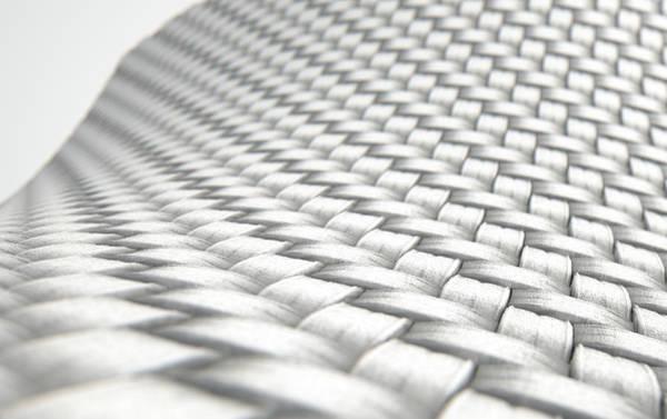 Cloth Digital Art - Micro Fabric Weave Clean by Allan Swart