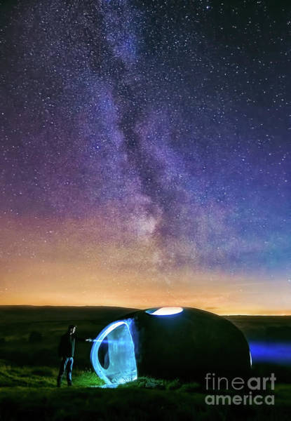 Photograph - Milky Way And Atom Panopticon by Mariusz Talarek