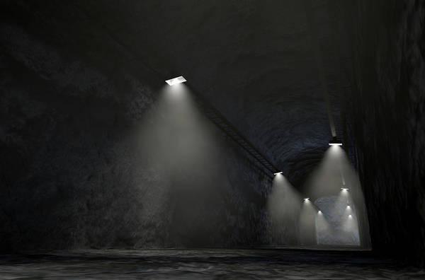 Shaft Wall Art - Digital Art - Mine Shaft by Allan Swart