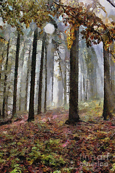 Painting - Misty Forest Paint by Odon Czintos