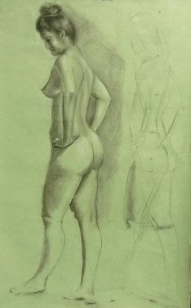 Wall Art - Drawing - Model by Bahman Zadegan