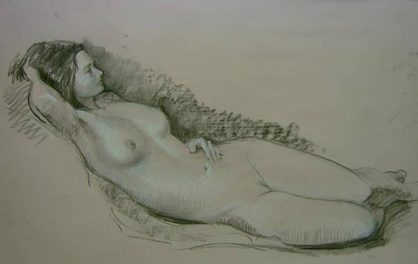 Drawing - Model Study by Tigran Ghulyan
