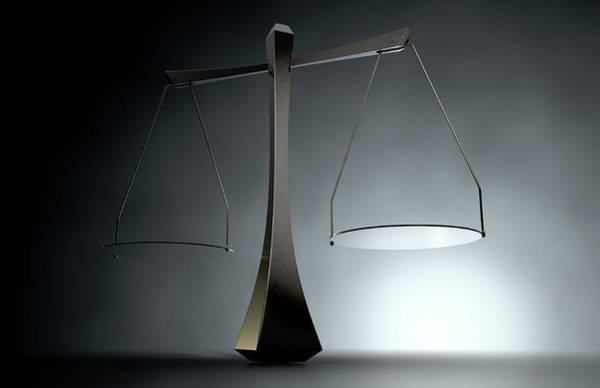 Equal Rights Wall Art - Digital Art - Modern Scales Of Justice by Allan Swart