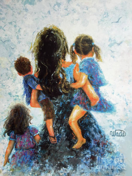 Me Too Painting - Mommy, Carry Me Too by Vickie Wade