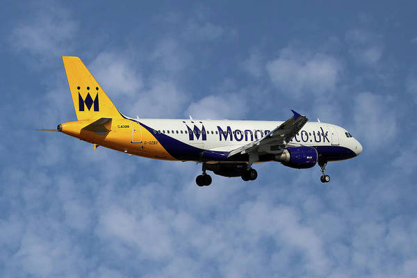 Monarch Wall Art - Photograph - Monarch Airlines Airbus A320-214 by Smart Aviation