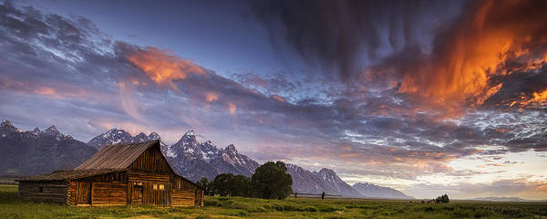 Teton Photograph - Mountain Barn In The Tetons by Andrew Soundarajan