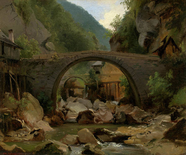 Painting - Mountain Stream In The Auvergne by Theodore Rousseau