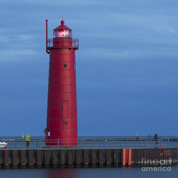 Two Harbors Photograph - Muskegon Lighthouse by Twenty Two North Photography