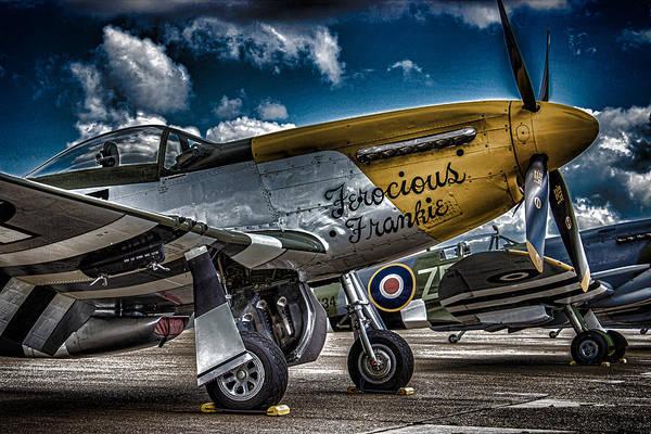 Air Show Photograph - Mustang by Martin Newman