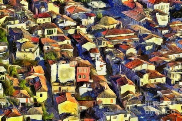 Peloponnese Painting - Nafplio Town by George Atsametakis