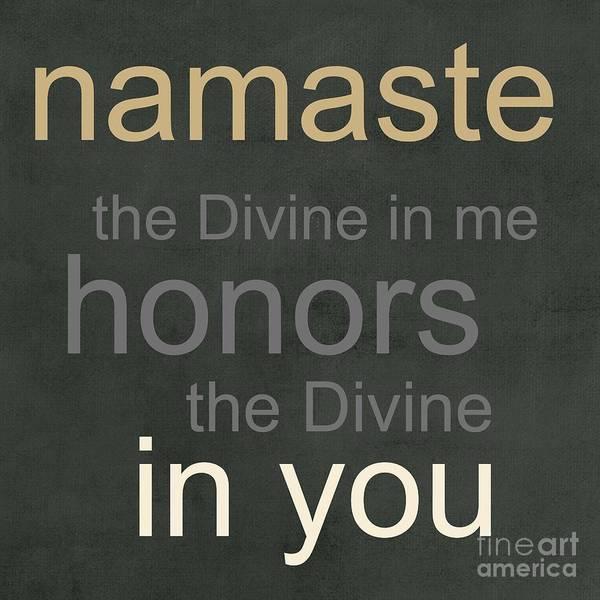 Verse Wall Art - Mixed Media - Namaste by Linda Woods