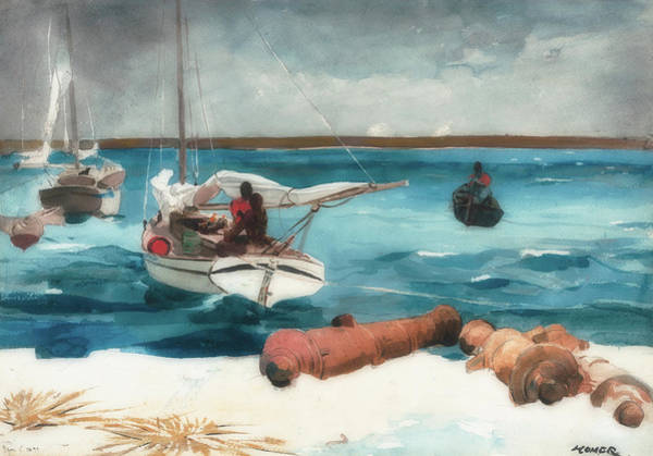 Cannon Beach Painting - Nassau by Winslow Homer