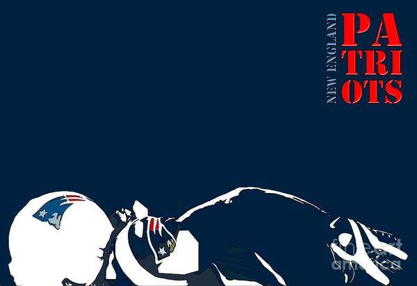 The Patriot Photograph - New England Patriots Original Typography Football Team by Drawspots Illustrations