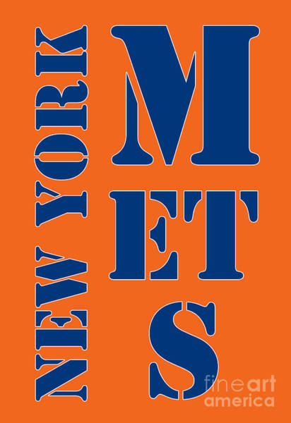 Wall Art - Painting - New York Mets Typography by Drawspots Illustrations