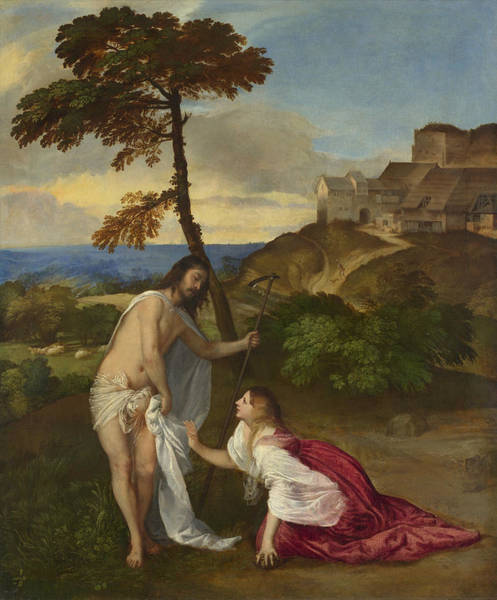 Redeemer Wall Art - Painting - Noli Me Tangere by Titian