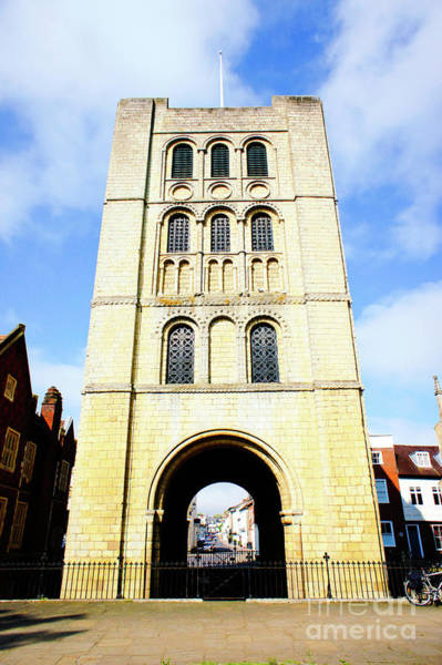 Wall Art - Photograph - Norman Tower In Bury St Edmunds by Tom Gowanlock