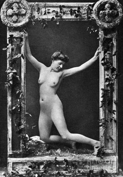 Photograph - Nude Posing, C1900 by Granger