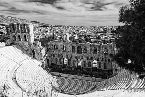 Photograph - Odeon Of Herodes Atticus On Acropolis In Athens by Michael Maximillian Hermansen
