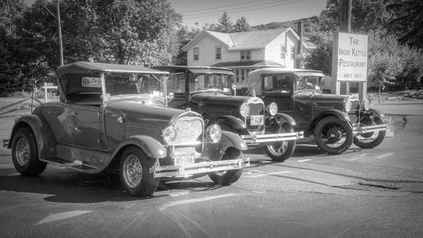 Photograph - 3 Old Fords by Guy Whiteley